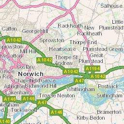 Route map Norfolk County Council